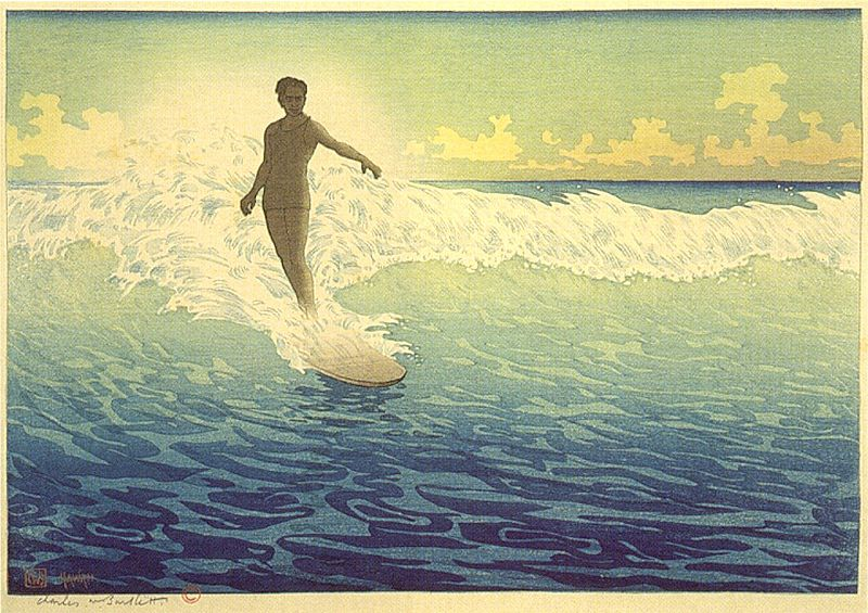 800px-'Hawaii,_The_Surf_Rider',_woodblock_print_by_Charles_W__Bartlett,_1921,_Honolulu_Academy_of_Arts