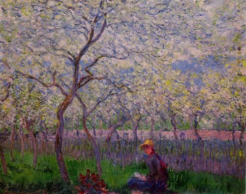 An_Orchard_in_Spring__1886 Claude Monet