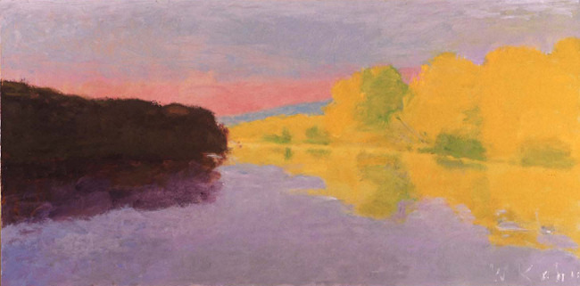 River Contrasts, 2004, Oil on Canvas, 25 X 50 kahn22179