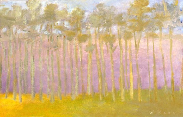 Row of Pines, 2005, Oil on Canvas 18 X 28 kahn22239