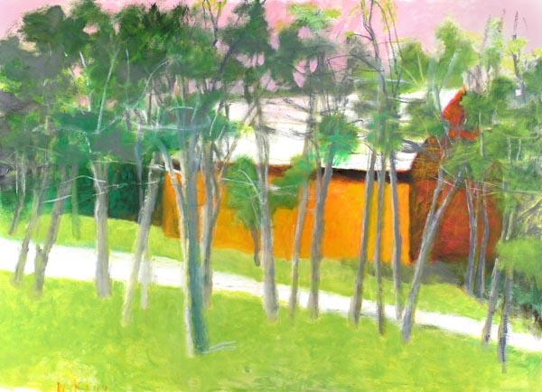 ORANGE BARN, 52 x 72 2009