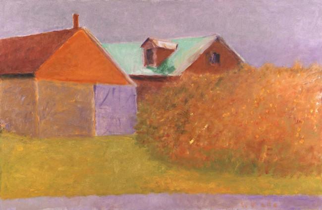 Wainscot Barns (Fall), 2004 Oil on Canvas, 36 X 52 kahn22177